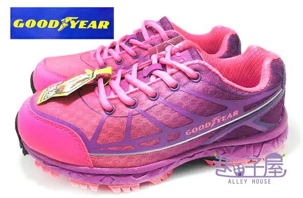 【巷子屋】GOODYEAR固特異 輕盈體驗 女款鷹爪漸層色彩輕戶外踏青運動跑鞋 [52007] 紫 超值價$590