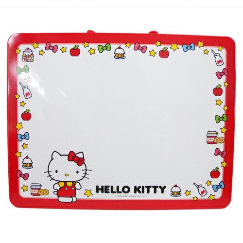 【真愛日本】15070700008 馬口鐵留言白板-點心紅  三麗鷗 Hello Kitty 凱蒂貓 小白板