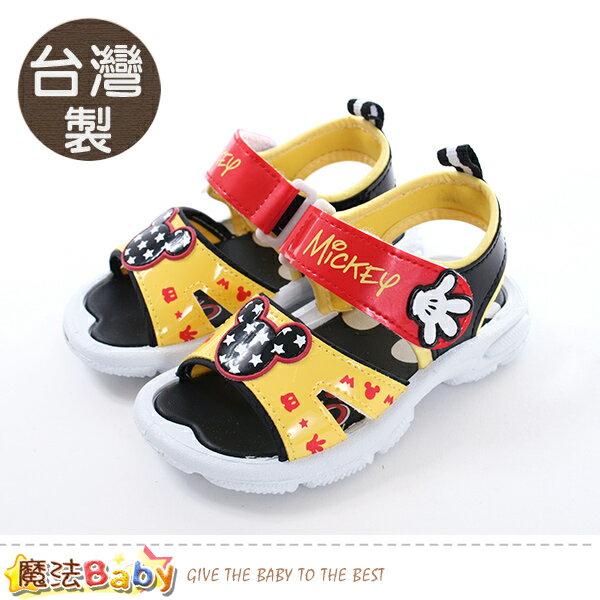 男童鞋台灣製迪士尼米奇正版涼鞋魔法Baby~sk0460