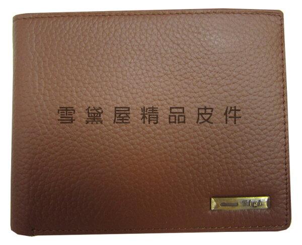 ~雪黛屋~TIGI短夾專櫃男仕短型皮夾100%進口牛皮革材質加長尺寸固定型證件夾BTG079340