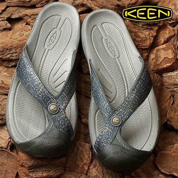 《台南悠活運動家》KEEN1016564男護趾拖鞋灰