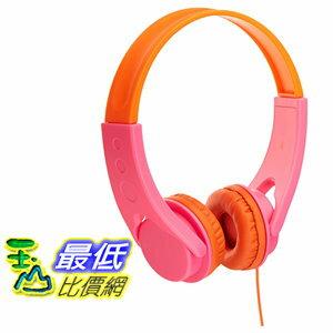 [106美國直購] AmazonBasics 耳機 Volume Limited On-Ear Headphones for Kids - Pink/Orange
