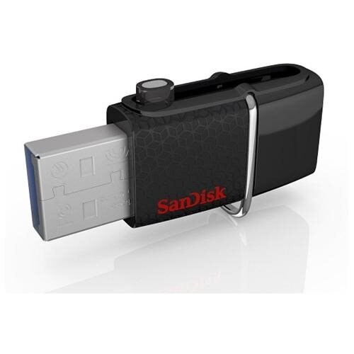 SanDisk 64GB USB 3.0 to microUSB 64G OTG Ultra Dual Flash Drive 150MB/s for Android smartphone tablet SDDD2-064G + OEM USB Lanyard 2