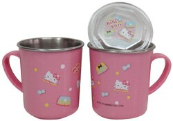 Hello Kitty不鏽鋼蓋杯(#304不鏽鋼)