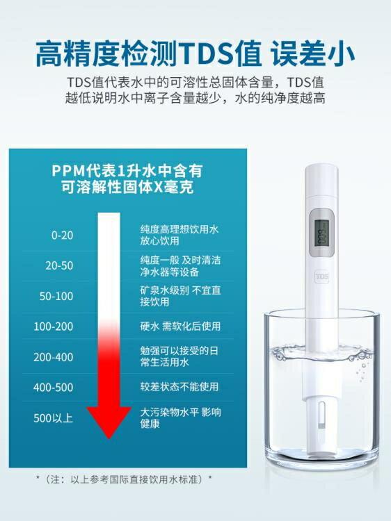 水質檢測儀 水質檢測筆飲用水高精度tds一3測水筆家用凈水器自來水測試水儀器 宜品/可開發票