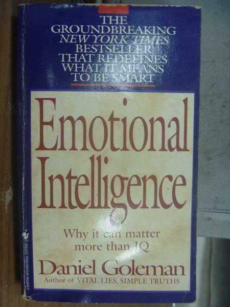 【書寶二手書T8/原文小說_MPH】Emotional intelligence_Daniel goleman