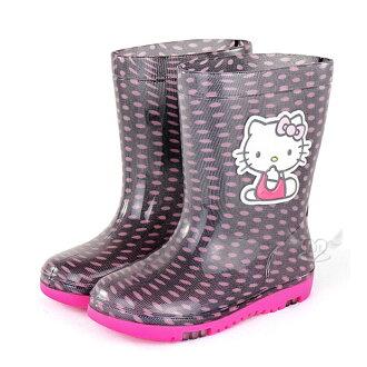 台灣製HELLO KITTY兒童雨鞋黑色15~21mc 7選1 95711560*JJL*