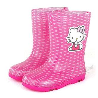 台灣製HELLO KITTY兒童雨鞋桃紅色15~21mc 7選1 95711570*JJL*