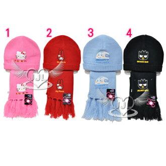 *JJL*HELLO KITTY美樂蒂新幹線酷企鵝毛線圍巾帽子組 4選1 02070207(保暖小物)