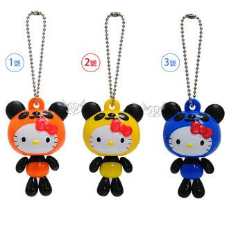 HELLO KITTY變身熊貓系列珠鍊吊飾掛飾鑰匙圈 3選1 44022473*JJL*