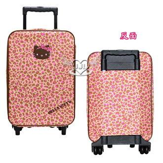 HELLO KITTY拉桿行李箱旅行箱約20吋豹紋蝴蝶結系列 797480*JJL*