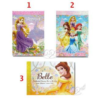 日本製迪士尼公主長髮公主美女與野獸貝兒公主便條紙 3選1 24115728*JJL*