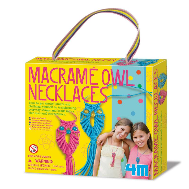 【4M】美勞創作系列-好朋友貓頭鷹項鍊 Macrame Owl Necklace 00-04658