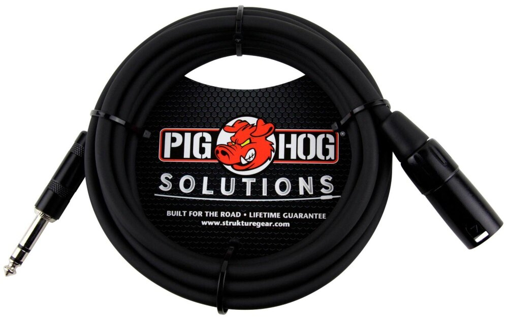 Pig Hog Solutions TRS(M) to XLR(M) Balanced Adapter Cable 10 ft.