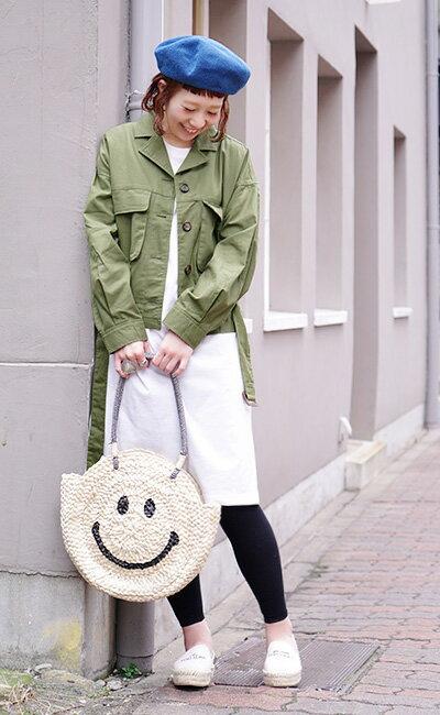 日本e-zakka / 圓型微笑編織手提包 / 21591-1801074 / 日本必買 代購 / 日本樂天直送(5900) 3
