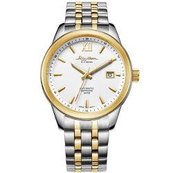 Rhythm 日本麗聲鐘時針 簡約流行自動機械腕錶 (AS1611S03) 金x銀 / 35mm