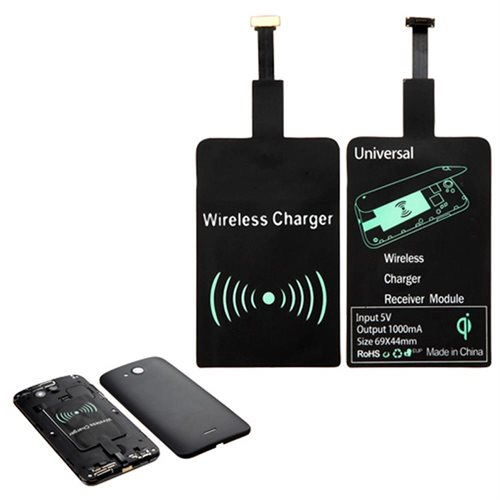 Insten Ultra-Thin QI Wireless Charging Receiver for Micro USB Universal (Narrow-interface Up) 0