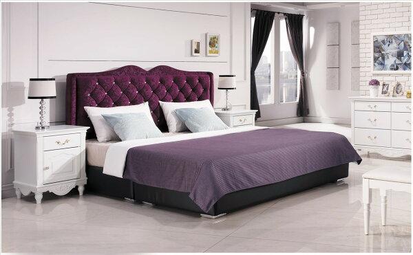 【石川家居】YE-A35-05奧莉薇5尺紫色絨布床頭片(不含床底與其他商品)台北到高雄搭配車趟免運