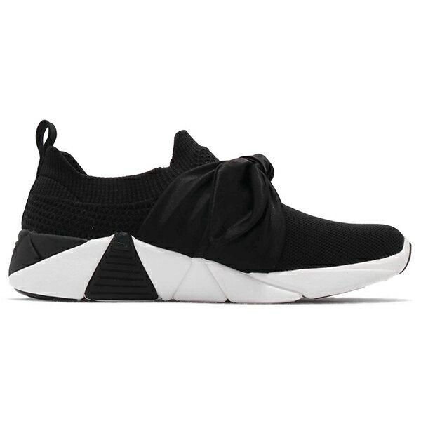 Shoestw【68849BLK】SKECHERS 健走鞋 MARK NASON 記憶鞋墊 休閒鞋 襪套 緞帶蝴蝶結 黑色 女生尺寸 2