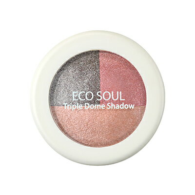 【即期良品】韓國the SAEM Eco Soul 三色眼影盤-6.5g Eco Soul Triple Dome Shadow【辰湘國際】 5