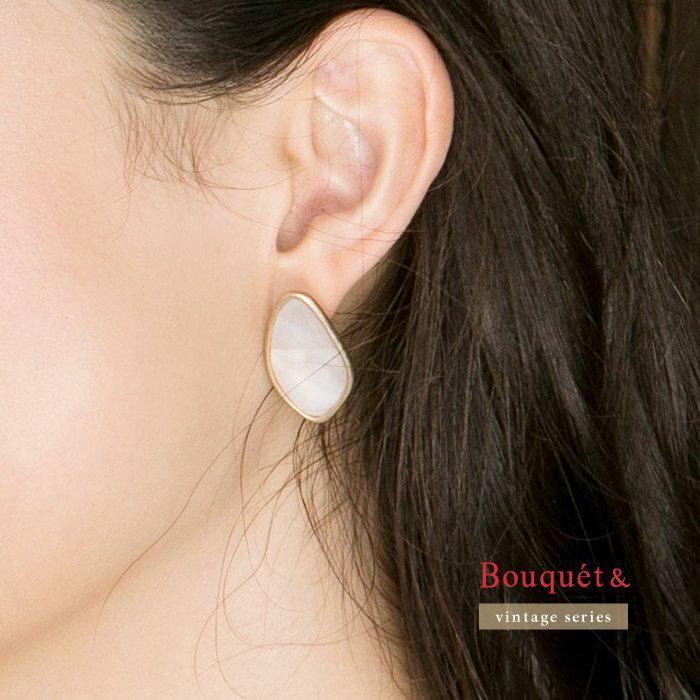 日本CREAM DOT  /  ニッケルフリー ピアス ヴィンテージ アクセサリー シェルピアス 金属アレルギー 安心 天然 フェミニン デイリー 結婚式 カジュアル ギフト 大人 レディース 女性 ジュエリー  /  qc0336  /  日本必買 日本樂天直送(1490) 0