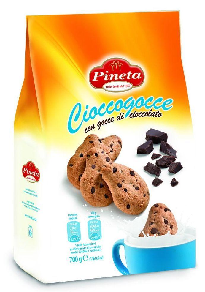 【Pineta】義大利繽諾達水滴可可豆餅乾 (350g大包裝)