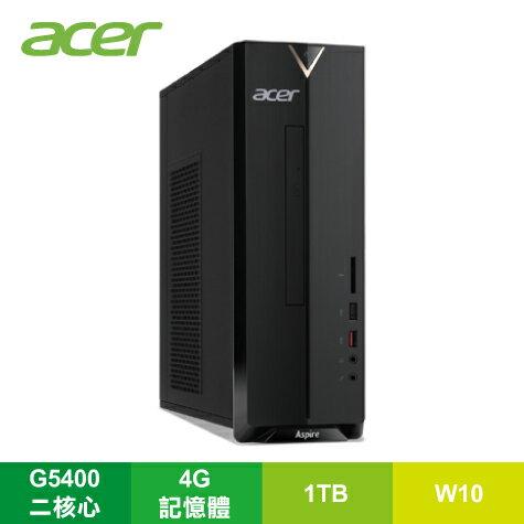 宏碁 acer Aspire XC-885 小型桌上型電腦/G5400/4G/1TB/DVDRW/讀卡機/Win10/附鍵盤滑鼠/DT.BAQTA.004