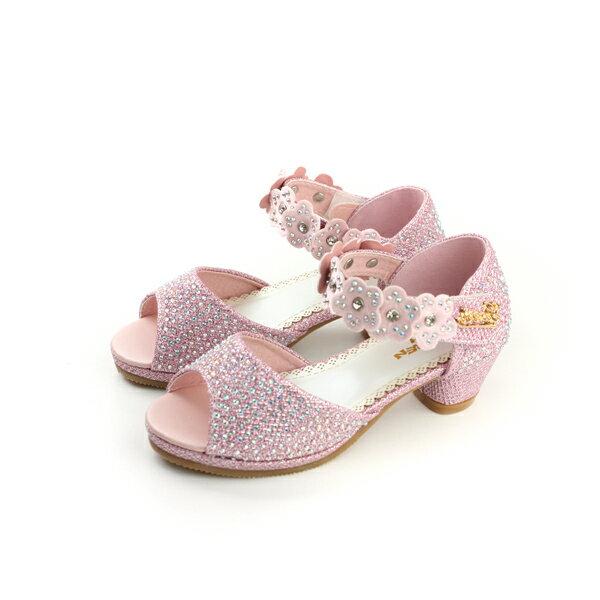 小女生鞋 涼鞋 粉紅色 大童 no087