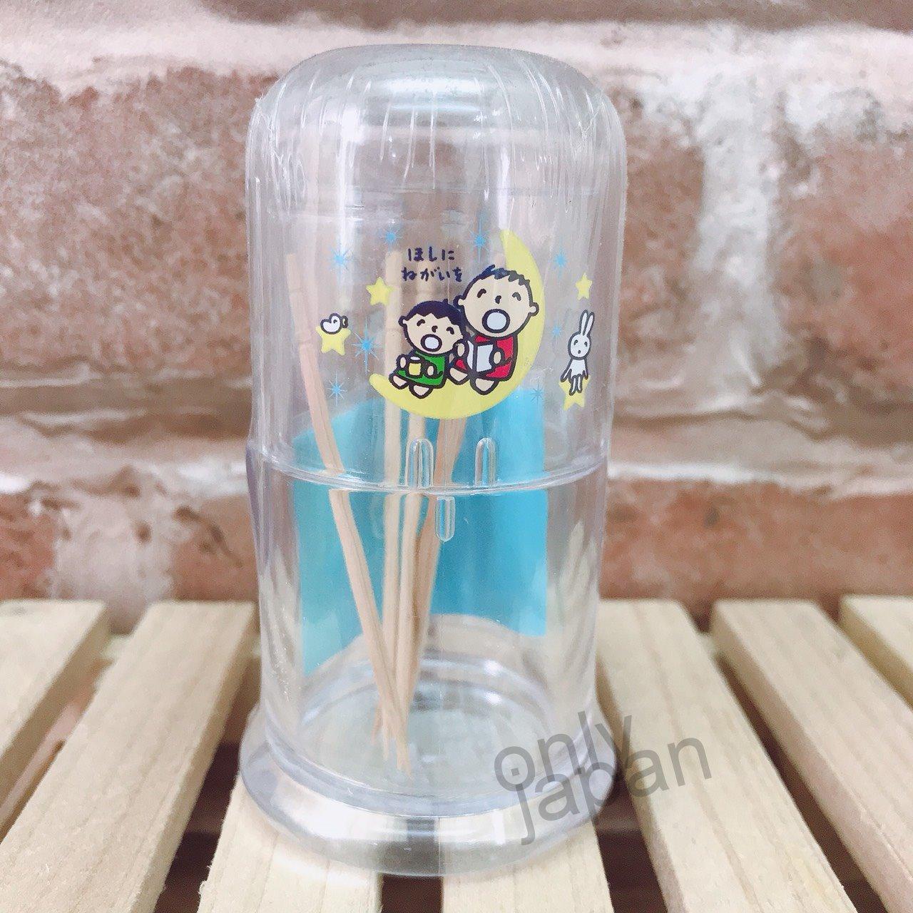 【真愛日本】5112300042 透明牙籤罐星星 Tabo 大口仔 大寶 牙籤罐 棉棒罐 居家雜物 小物收納罐