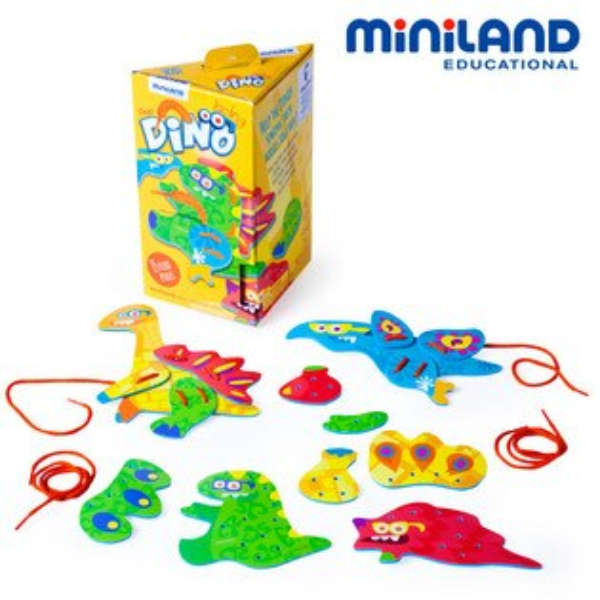 東喬精品百貨商城:免運費【西班牙Miniland】恐龍身體創意穿線組