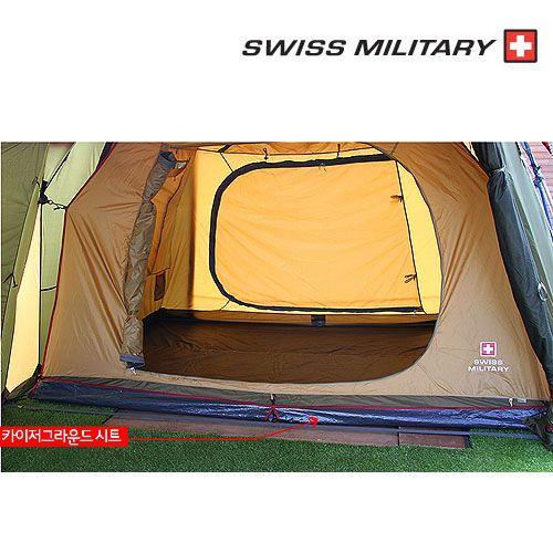【露營趣】中和 SWISS MILITARY S3T3T016 豪華圓頂別墅帳 S3T3T015專用地布 防潮地布 地墊