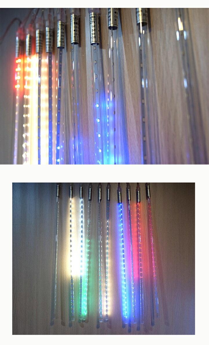 ※下單送好康※♢Just-Play 捷仕特♢LED流星燈管 流星燈條50cm 10支 / 組led燈雙面貼片燈 造景燈 喜慶裝飾燈 1