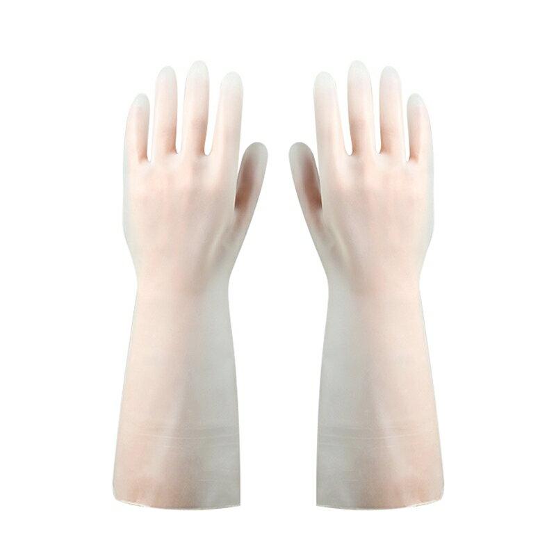 防水手套 清潔打掃用 不傷手防水家務手套廚房清潔耐用膠手套家用膠皮手套 88336 1