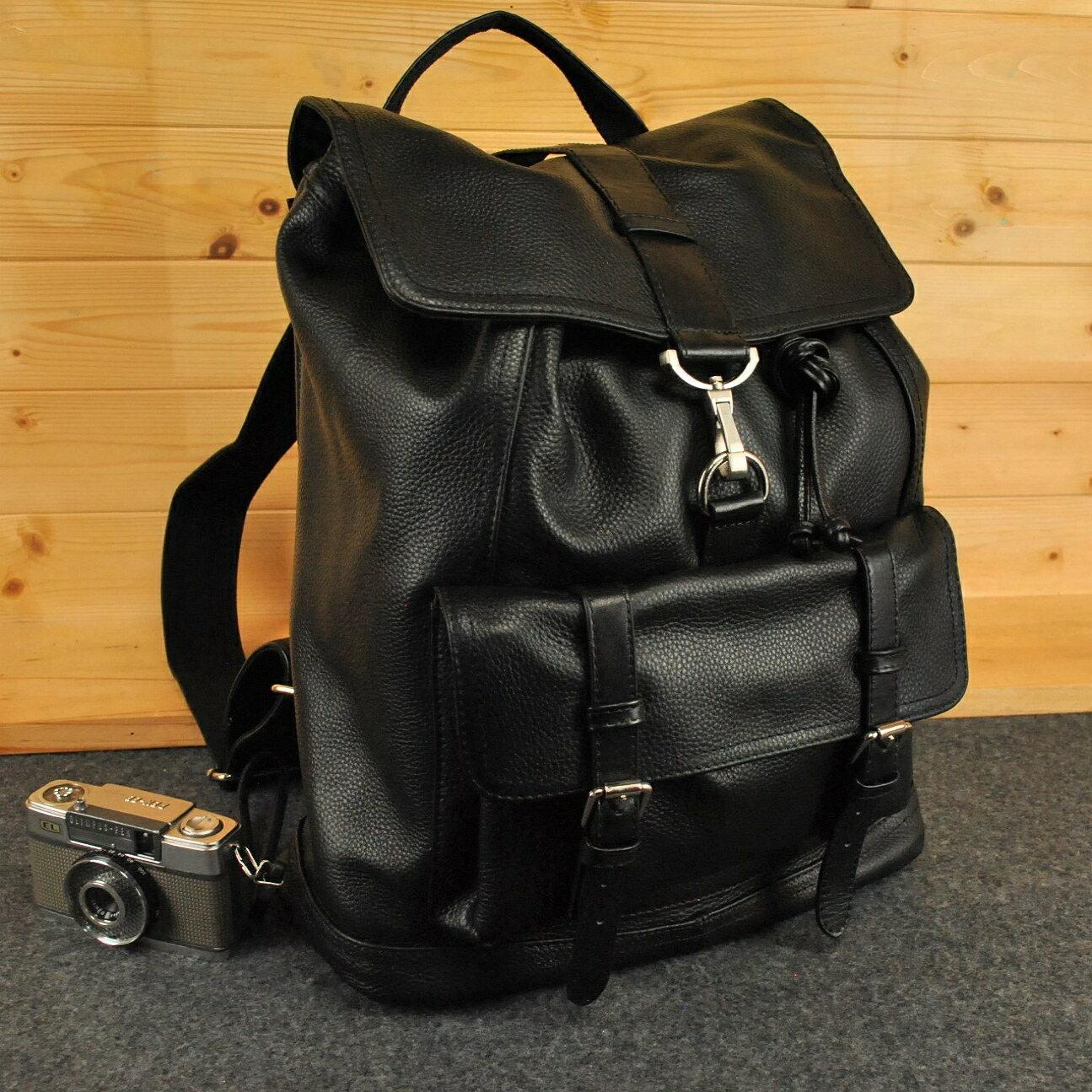 AG設計款 全牛皮筆電層 後背包 大容量 高質感多脂摔紋牛皮感 男女可用 Coach改良版型