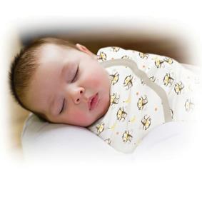 美國Summer Infant 聰明懶人純棉睡袋包巾-香蕉小猴【悅兒園婦幼生活館】