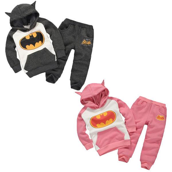 長袖套裝 蝙蝠俠刷毛連帽家居服套裝 嬰幼兒童裝 SK067 好娃娃