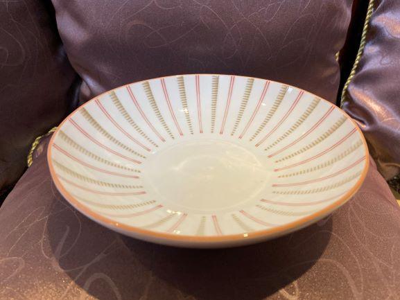 """日系陶瓷系列~ 日式條紋7.5""""陶瓷盤 餐盤/瓷盤/日本盤/陶瓷餐具/盤子"""