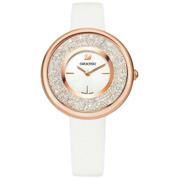 Swarovski施華洛世奇CrystallinePure真皮時尚腕錶5376083白面34mm