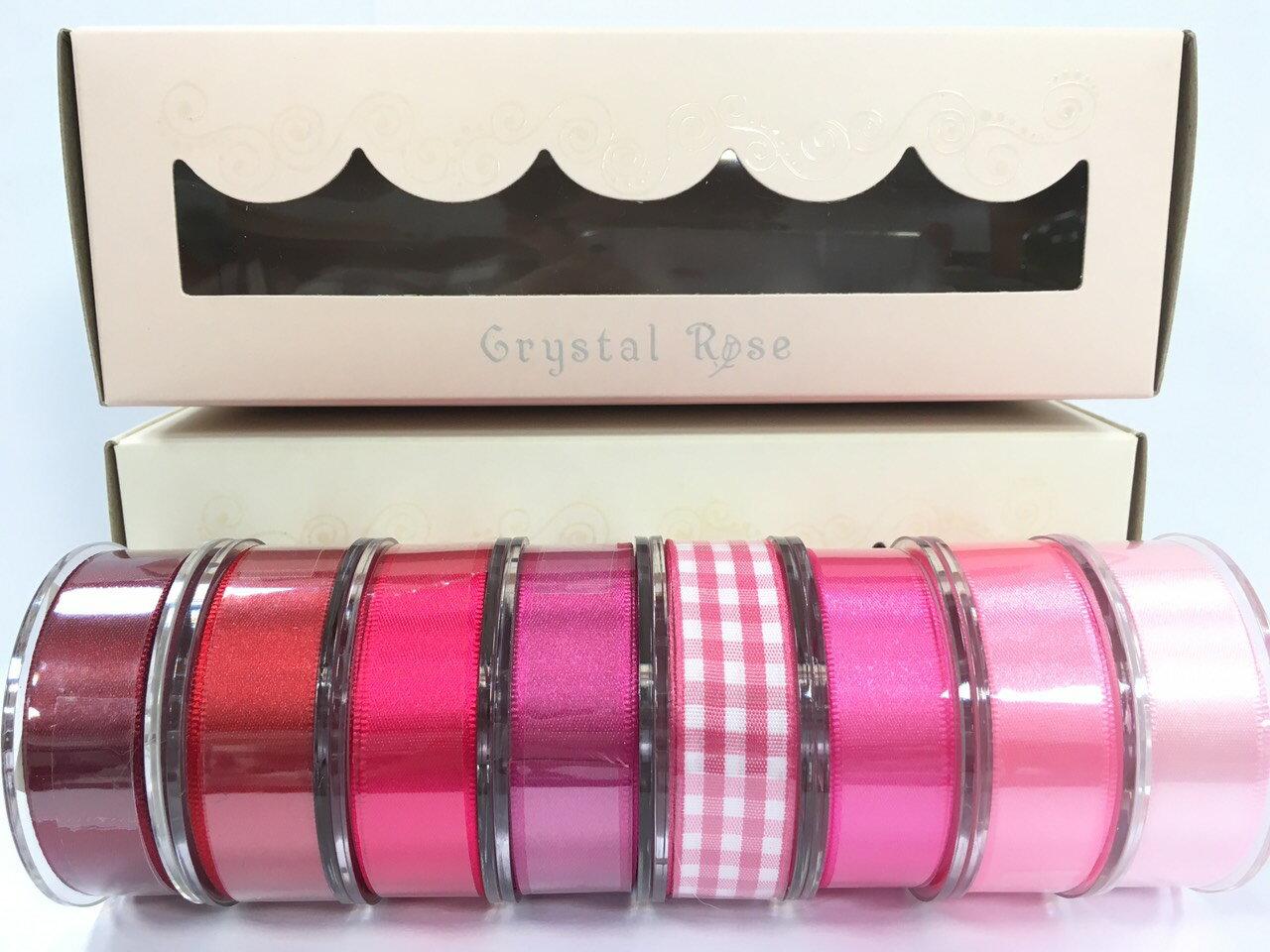 低調奢華盒裝-雙面緞/經典格紋緞帶 15mm 8入(3款) 0