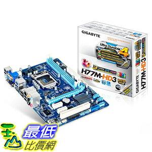 [美國直購] Gigabyte GA-H77M-HD3 主機板 Motherboard CPU i3 i5 i7 LGA1155 Intel H77 DDR3 SATA3 HDMI