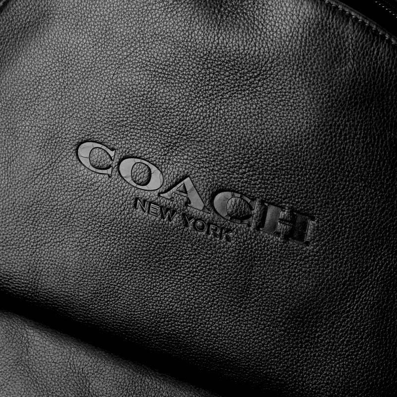 【COACH男士經典黑色皮革雙肩背包】閃閃情人禮 整點特賣 02 / 05 20:00 開賣 COACH 男士經典黑色皮質雙肩後背包 F54786 5