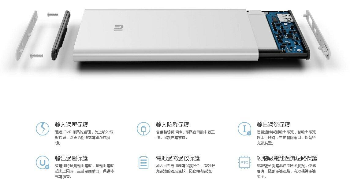 限量-官方代購 小米行動電源5000版本 小米 行動電源 充電器 USB 2