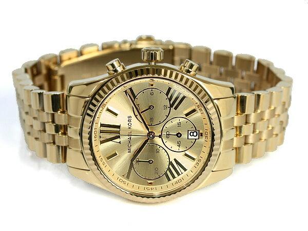 美國Outlet正品代購 MichaelKors MK  男女中性金色鋼帶錶 手錶 MK5556 2