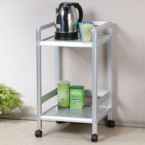 茶車 泡茶車 瓦斯桶架 廚房置物架 電器架 櫥櫃 廚房收納櫃 置物櫃 碗盤架 《Yostyle》鋁合金1.2尺活動茶車-黑花格