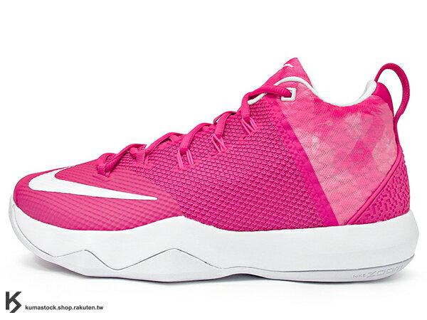2016年 NBA LeBRON JAMES 子系列代言鞋款 戶外專用鞋款 NIKE AMBASSADOR IX 9 KAY YOW 粉紅 粉紅白 乳癌 乳腺癌 HYPERFUSE + FLYWIRE 鞋面科技 前 後 ZOOM AIR 氣墊 (852413-606) 0217