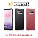 【愛瘋潮】ICARER 奢華格紋 SAMSUNG Note 8 單底背蓋 手工真皮保護套 保護殼