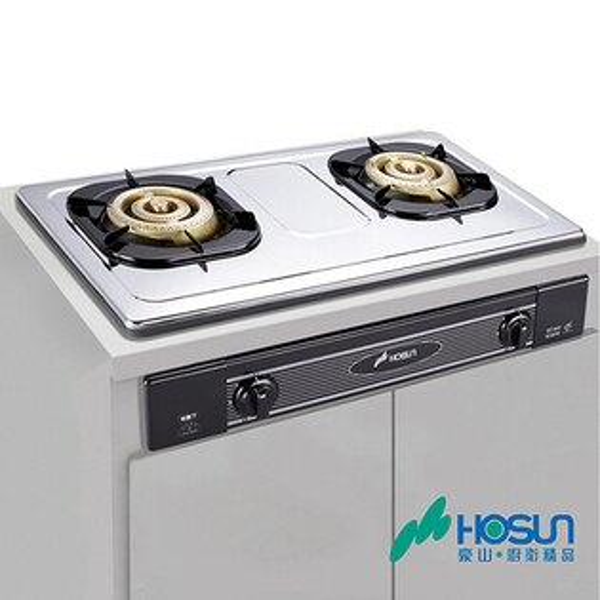 豪山全銅爐頭歐化嵌入式瓦斯爐(琺瑯)SK-2051P
