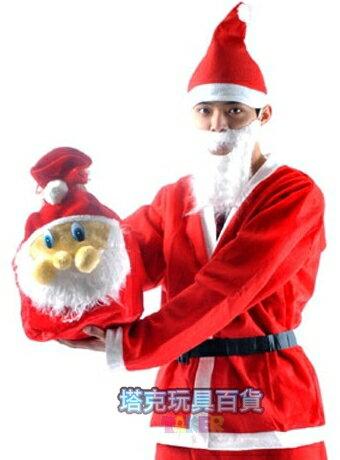 後背包 耶誕節 聖誕老公公 禮物包(絨毛款) 派對背包 禮物包 側背包 束口袋 聖誕節裝扮【塔克】