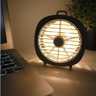 菲利迪LED夜燈小風扇USB迷妳電扇床上桌面宿舍辦公室手持靜音電扇便攜式小型無聲充電USB接口便捷插電隨身-樂活- 喜迎新春