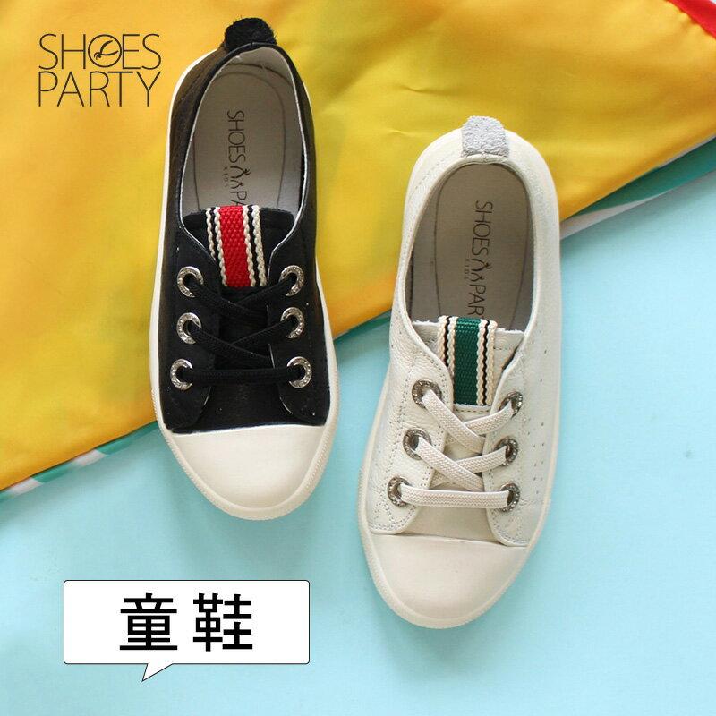 馬上出貨【FK-18204L】內建鬆緊帶,軟牛皮織帶童鞋_Shoes Party 0